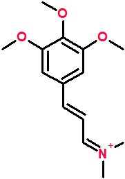 (2E)-N,N-dimethyl-3-(3,4,5-trimethoxyphenyl)prop-2-en-1-iminium.png