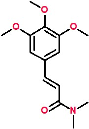 1-(3,4,5-Trimethoxycinnamoyl)dimethylamine.png