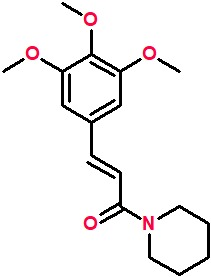 1-(3,4,5-Trimethoxycinnamoyl)piperidine.png