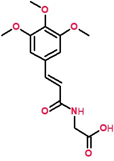 3,4,5-Trimethoxycinnamoylglycine.png