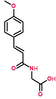 N-(4-methoxycinnamoyl)glycine.png